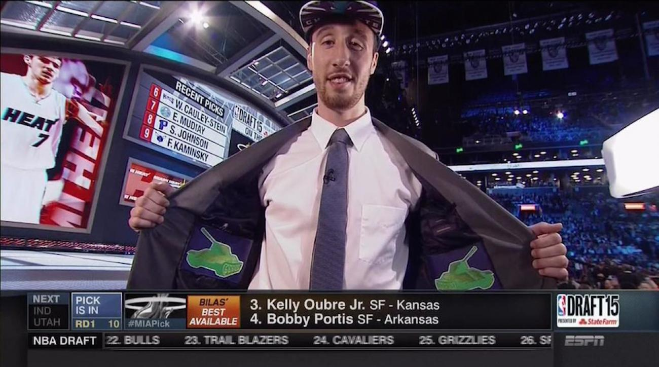 nba draft 2015 frank kaminsky tanks suit jacket