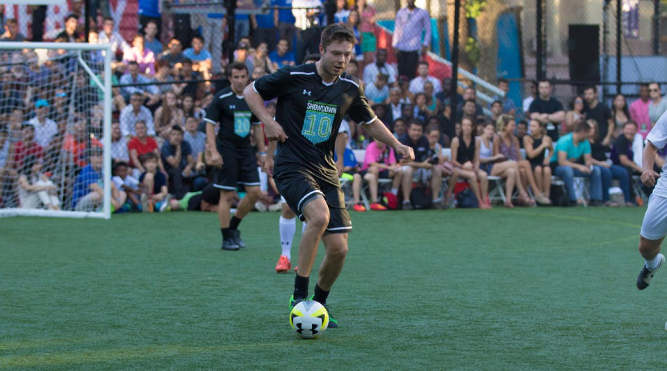 matthew dellavedova steve nash soccer showdown 2015