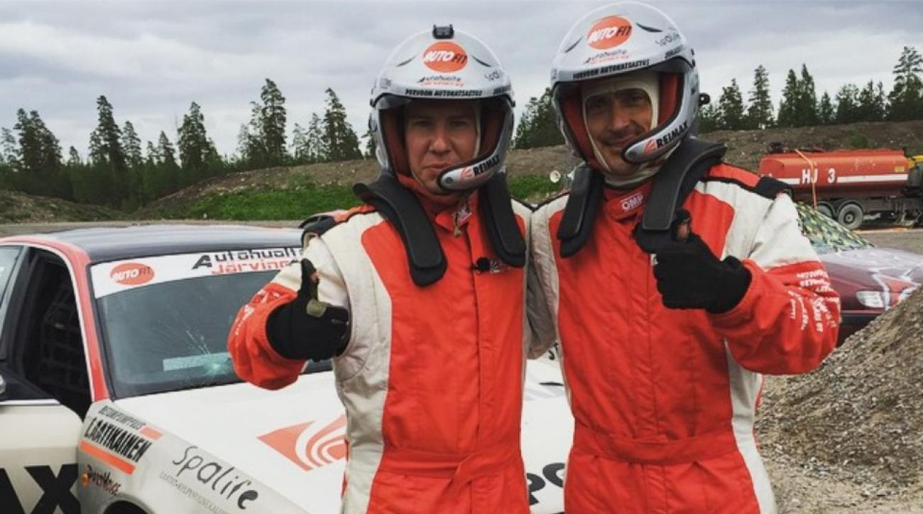 Teemu Selanne jumped a car through a fireball