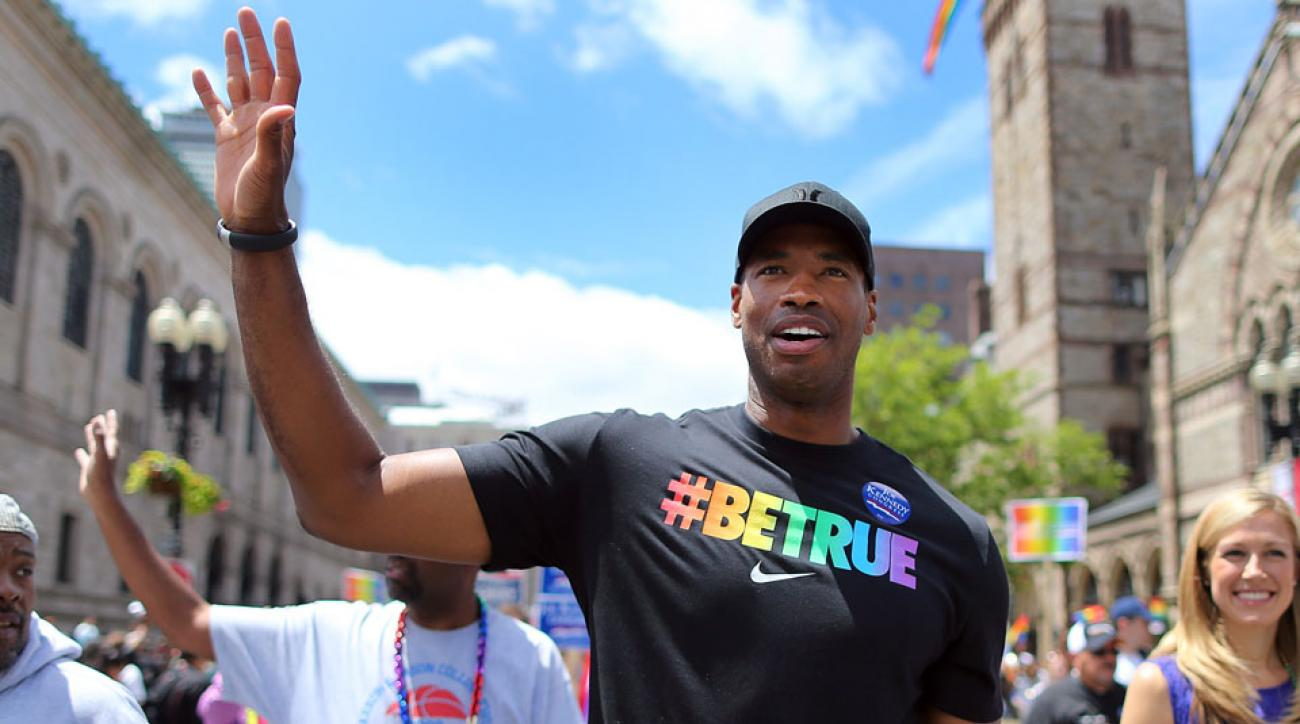 Gay marriage was ruled a constitutional right by the Supreme Court, and Jason Collins was among the athletes who reacted.