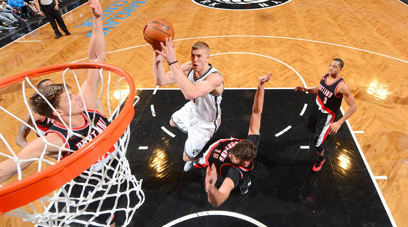 Nets traded Mason Plumlee to the Blazers for No. 23 pick Rondae Hollis-Jefferson and Steve Blake.