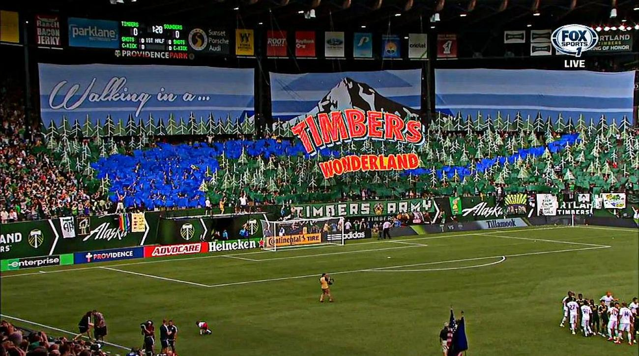 seattle sounders portland timbers tifo pictures