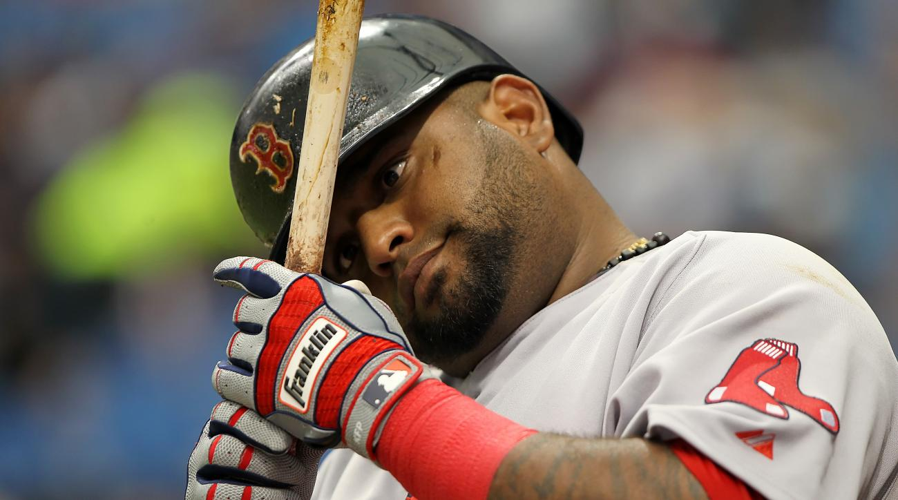 boston red sox pablo sandoval swing pitch over head video