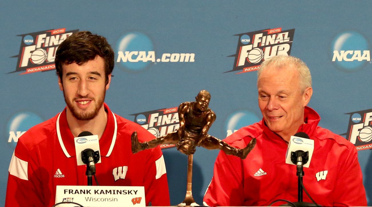 Frank Kaminsky Bo Ryan Wisconsin Badgers