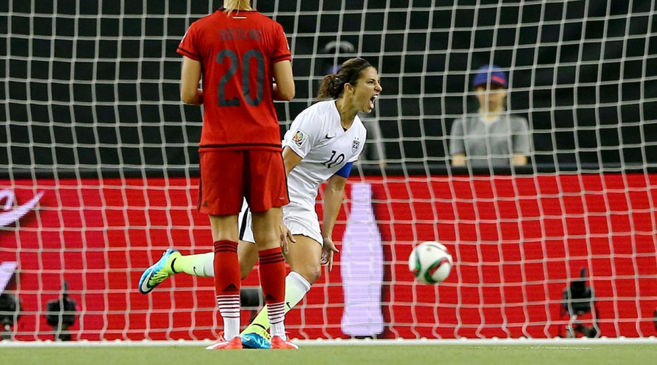 Carli Lloyd goal USA vs Germany World Cup penalty kick