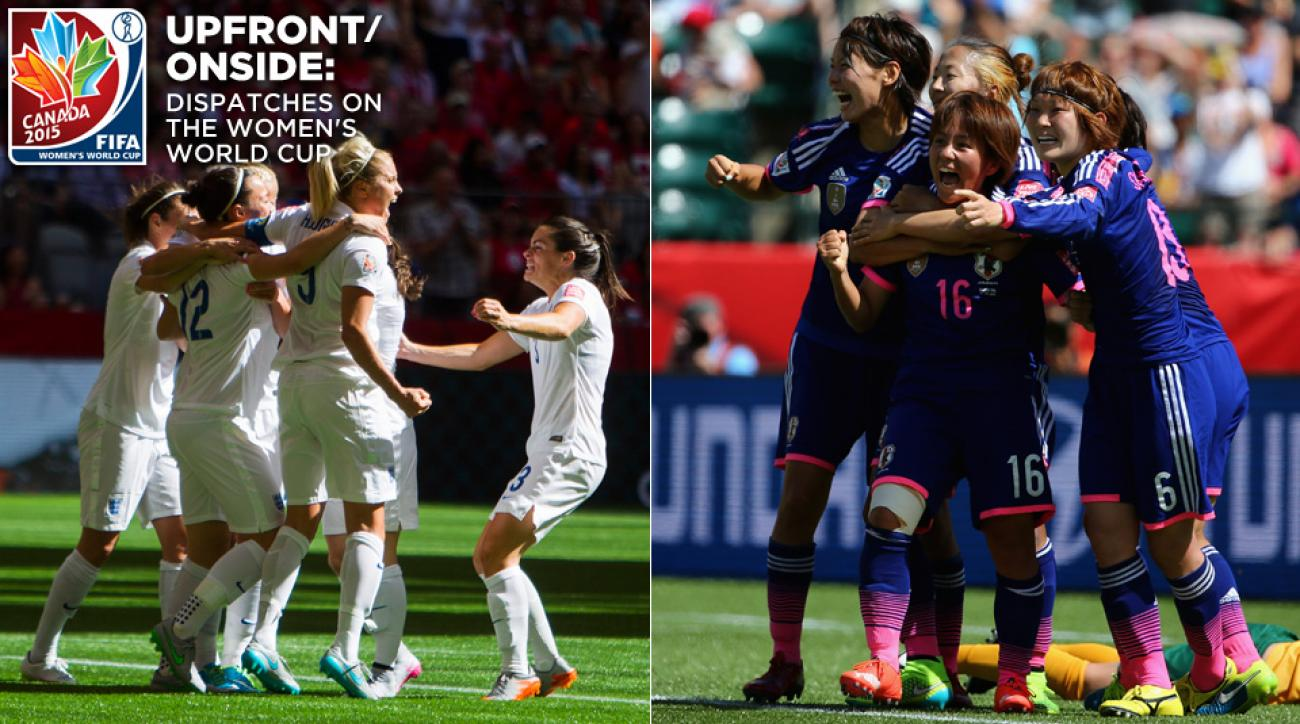 England and Japan will meet in the 2015 Women's World Cup semifinals.