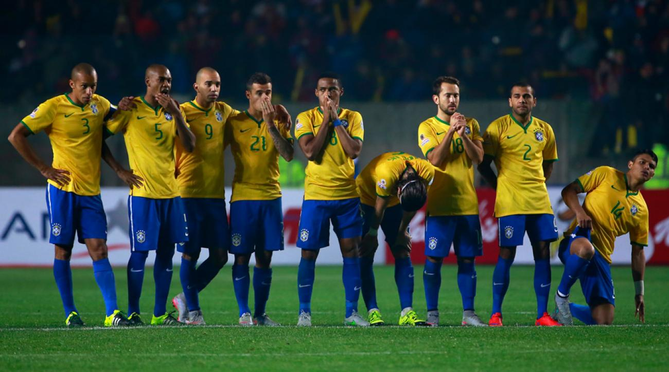 Brazil's national team shows its disappointment after a Copa America quarterfinal loss to Paraguay