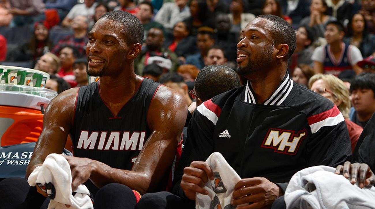 Miami Heat Dwyane Wade return Chris Bosh Twitter