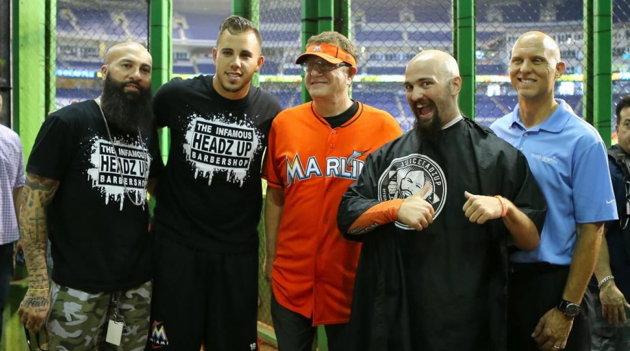 Miami Marlins fan gets first haircut in 13 months from Jose Fernandez