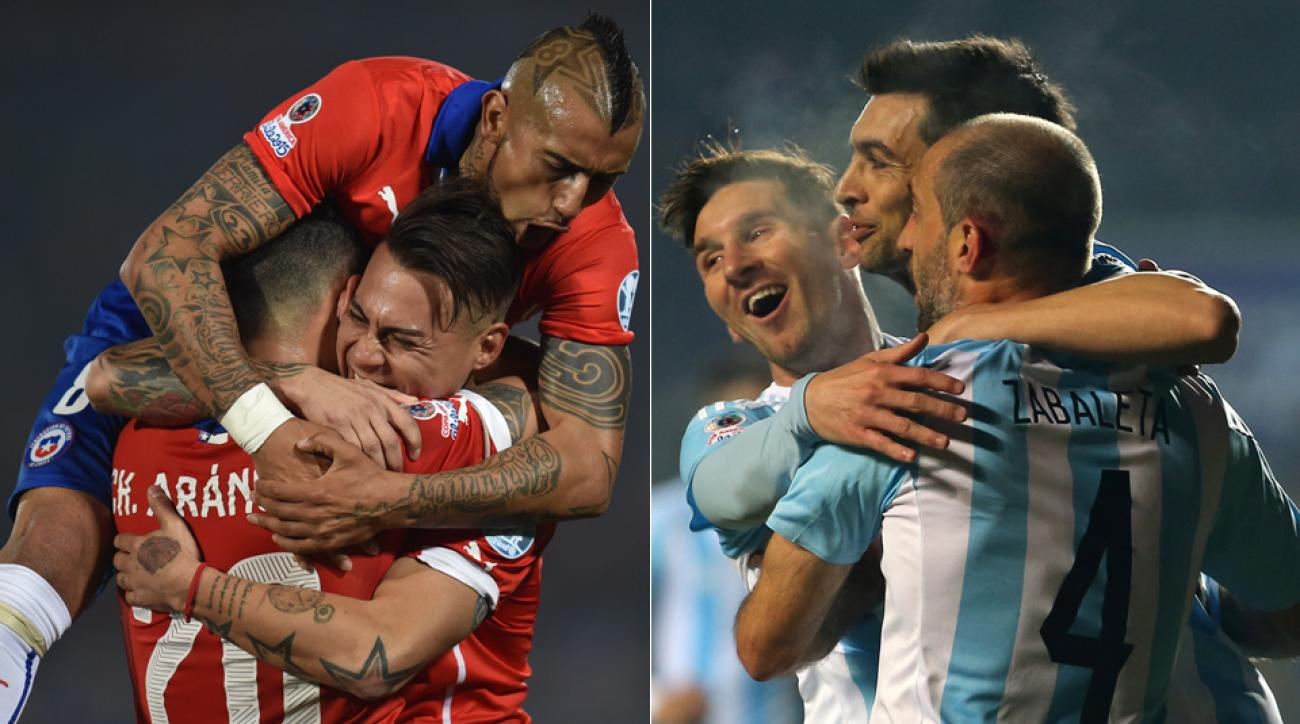 Chile, Argentina battle for the 2015 Copa America title