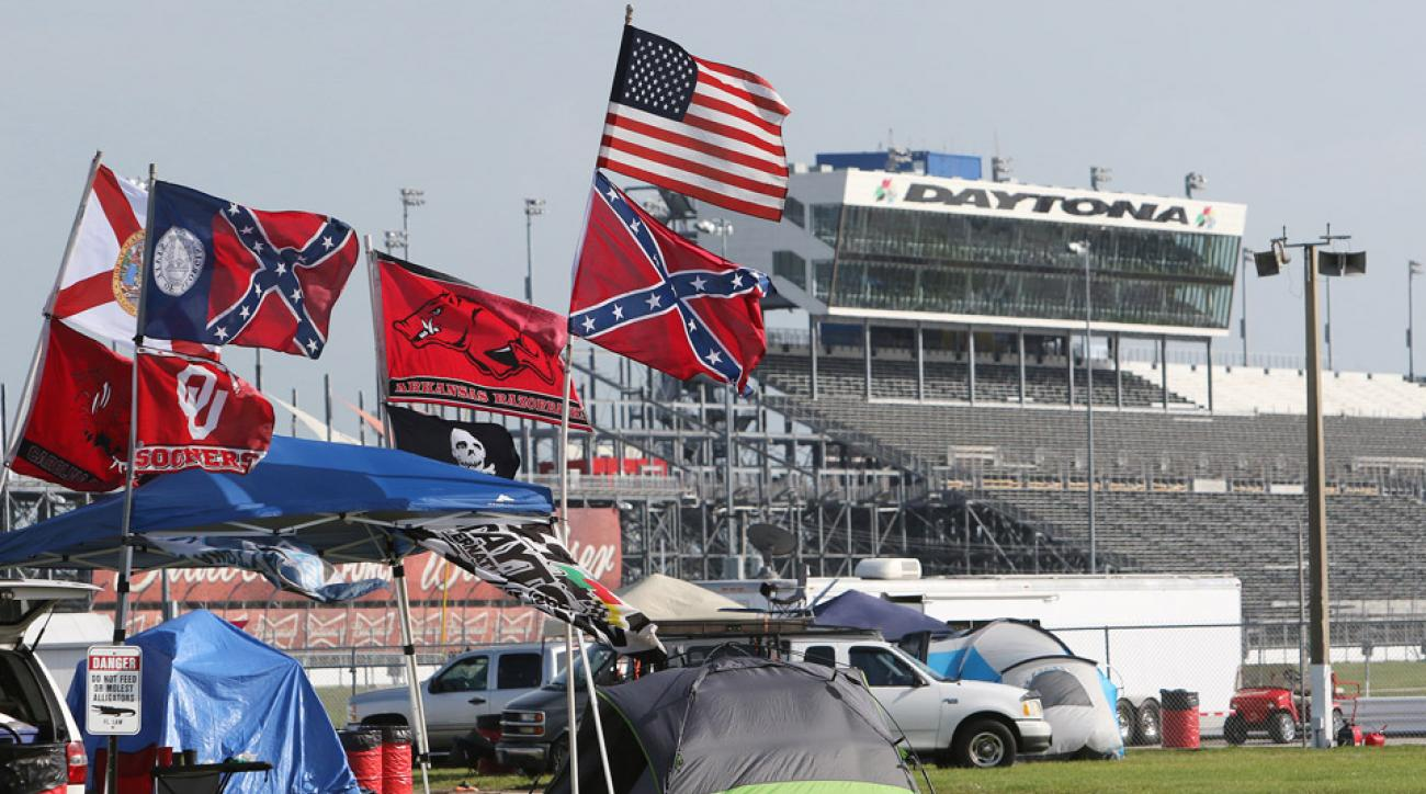 NASCAR is trying to keep the confederate flag away from race tracks.