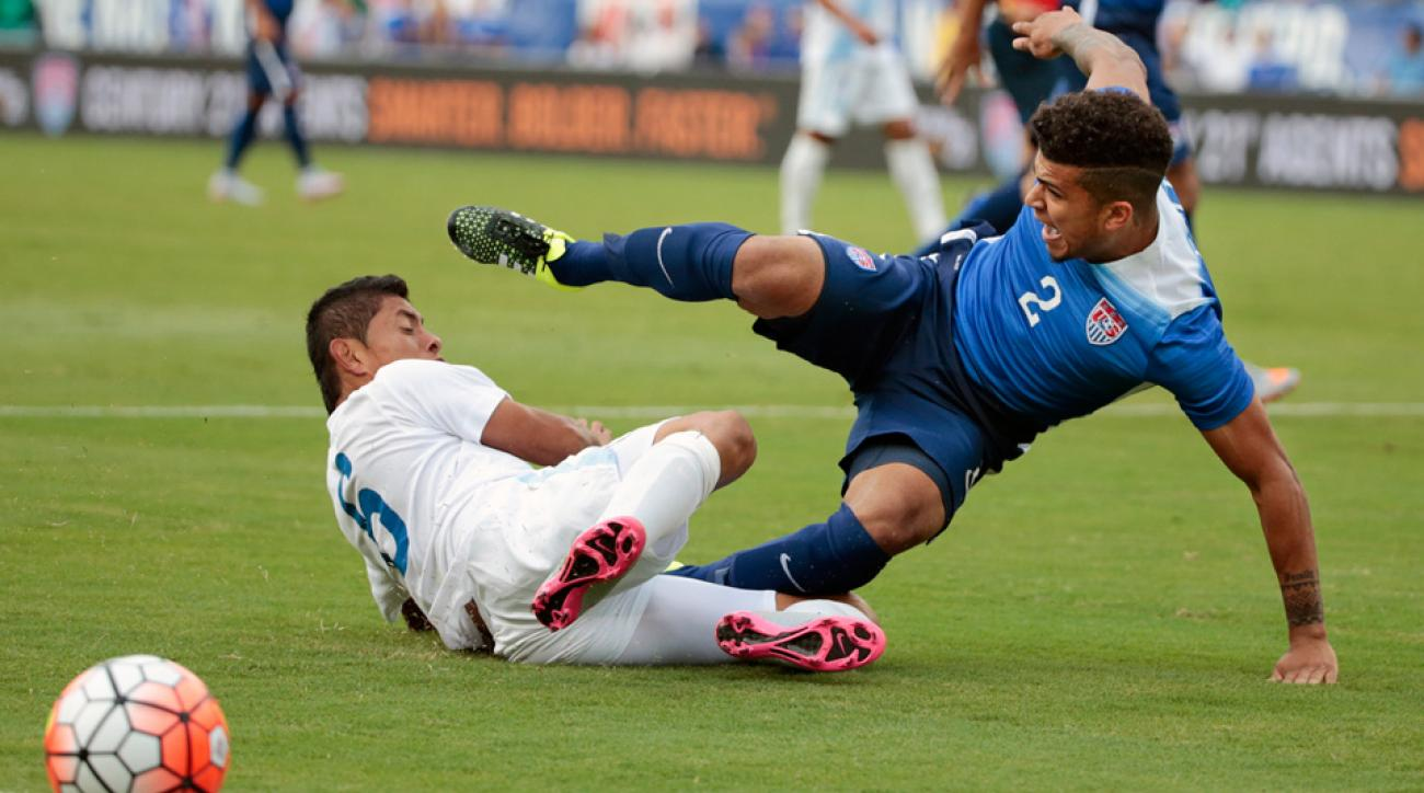 USA's DeAndre Yedlin created problems for Guatemala and forced an own goal with a cross in the first half of their friendly
