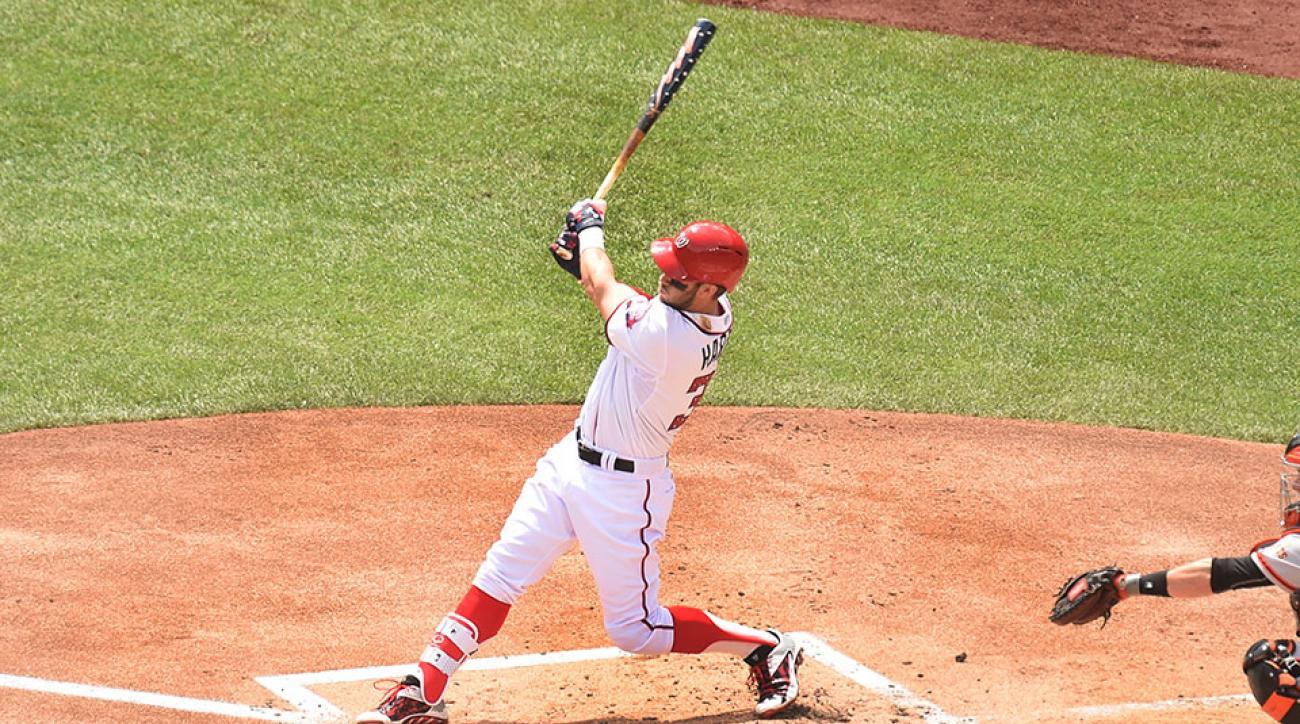 Nationals Bryce Harper 4th of July home run patriotic bat