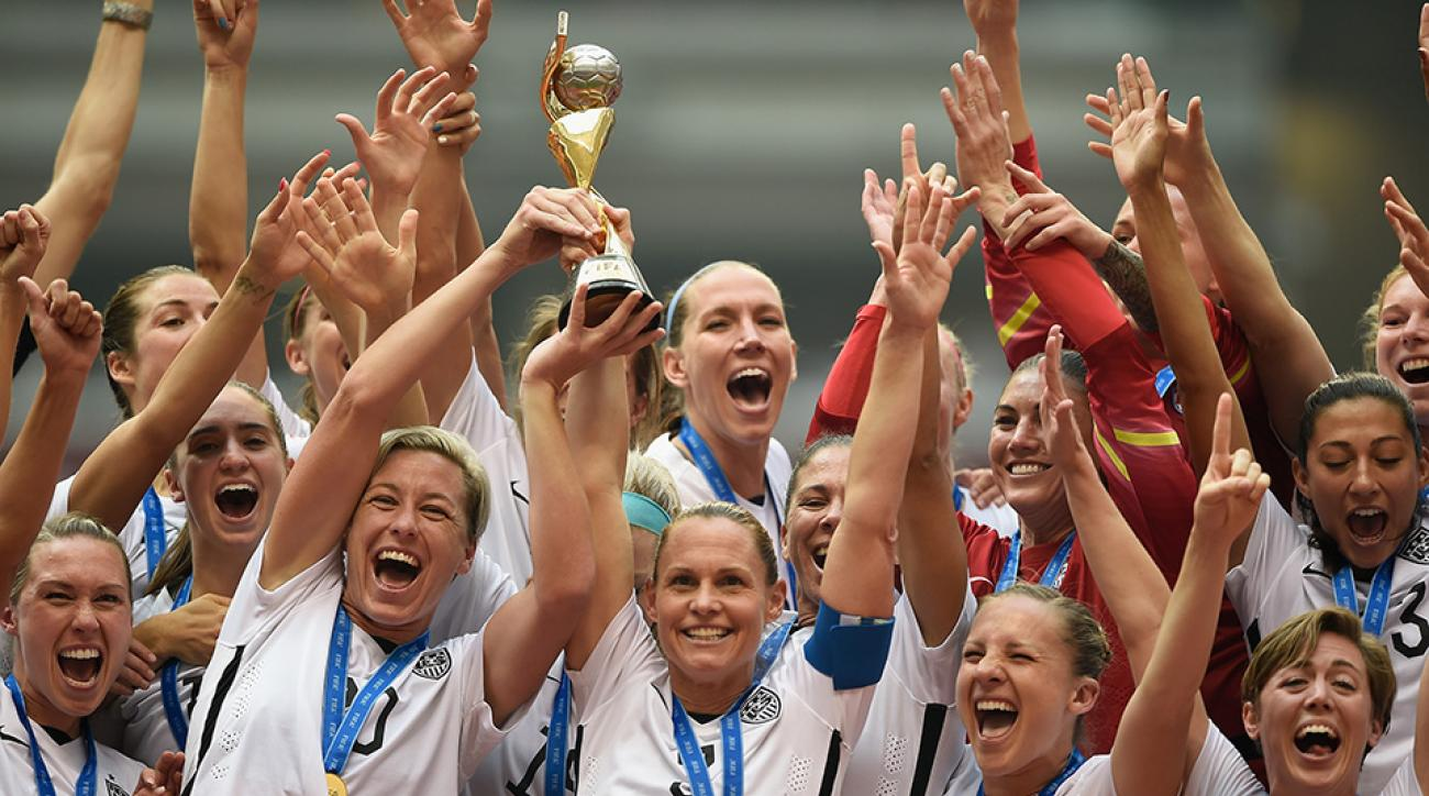 womens world cup usa trophy lift abby wambach video