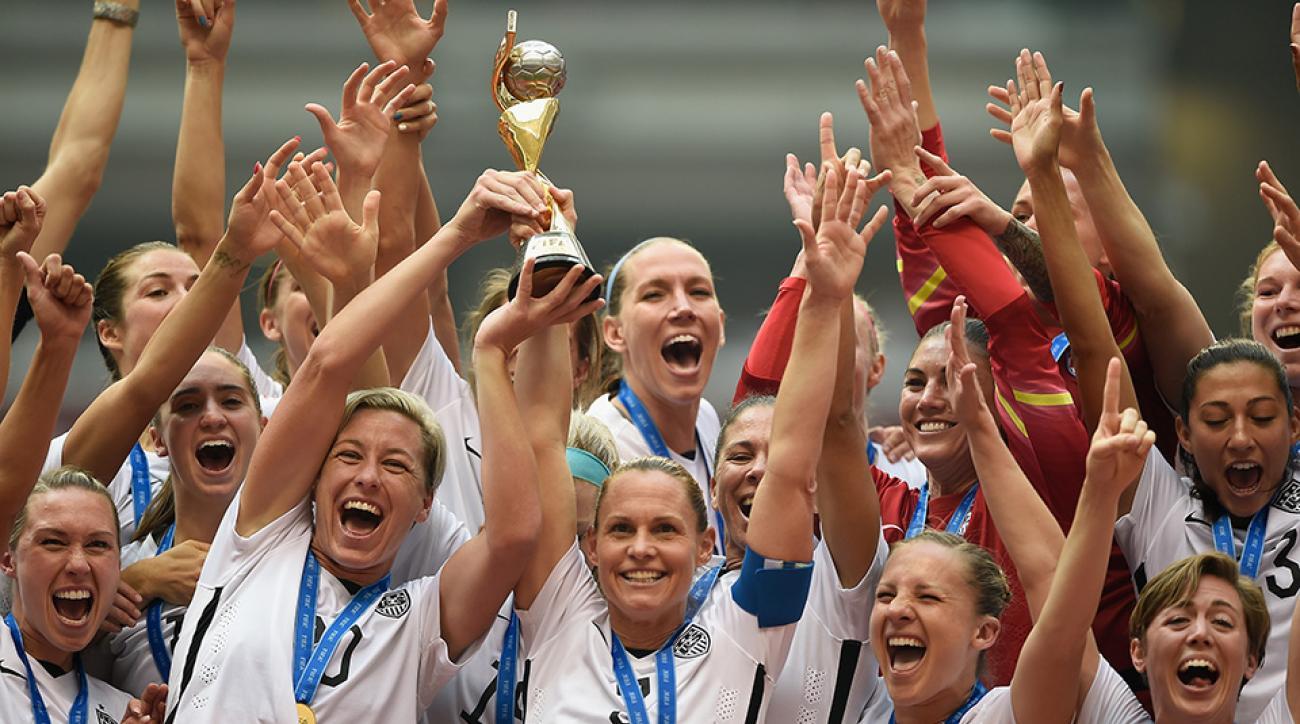 womens world cup usa trophy lift abby wambach video