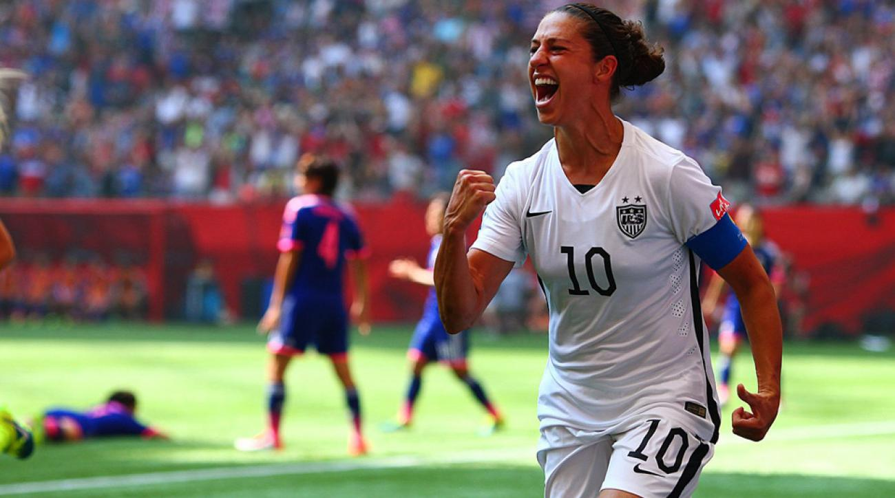 Carli Lloyd scored three goals in 16 minutes to lead the USA to a 5-2 win over Japan and the Women's World Cup title