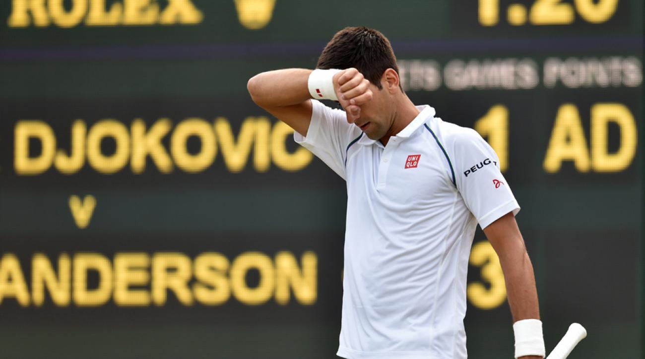 Novak Djokovic Wimbledon upset Kevin Anderson