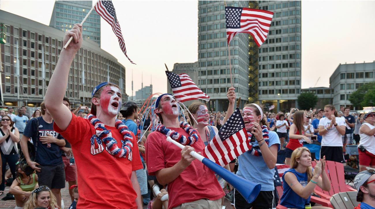 USA Japan World Cup fans celebrate video Carli LLoyd goal