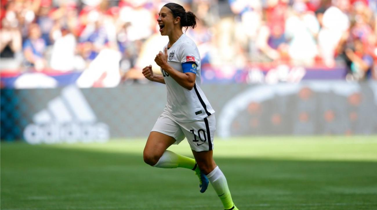Carli Lloyd had 372 text messages after her World Cup hat trick