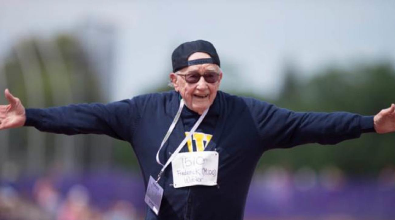 100 year old frederick winter 100 meter world record holland michigan