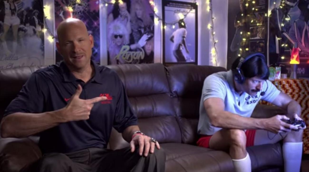 Ole Miss basketball coach recreates Rob Lowe commercial