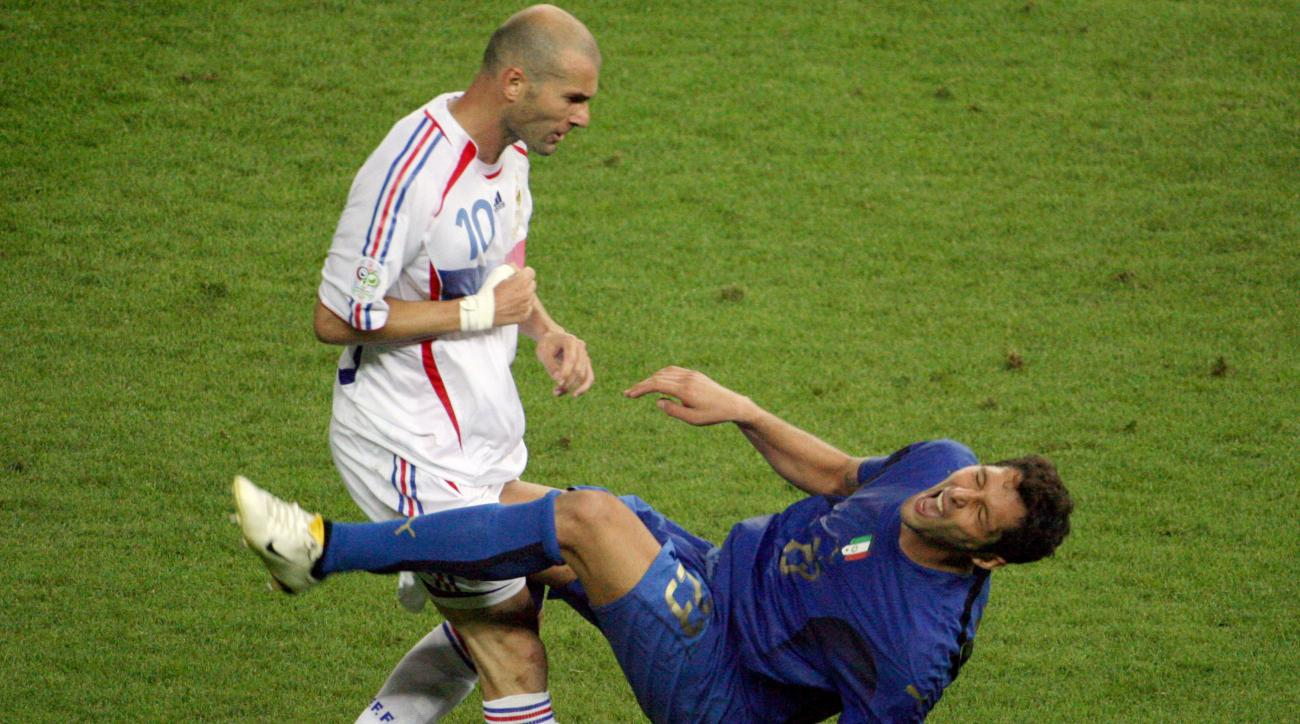 zidane headbutt materazzi france italy world cup