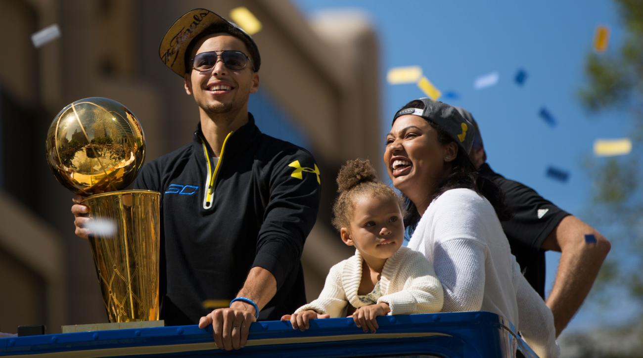 riley stephen curry family warriors parade