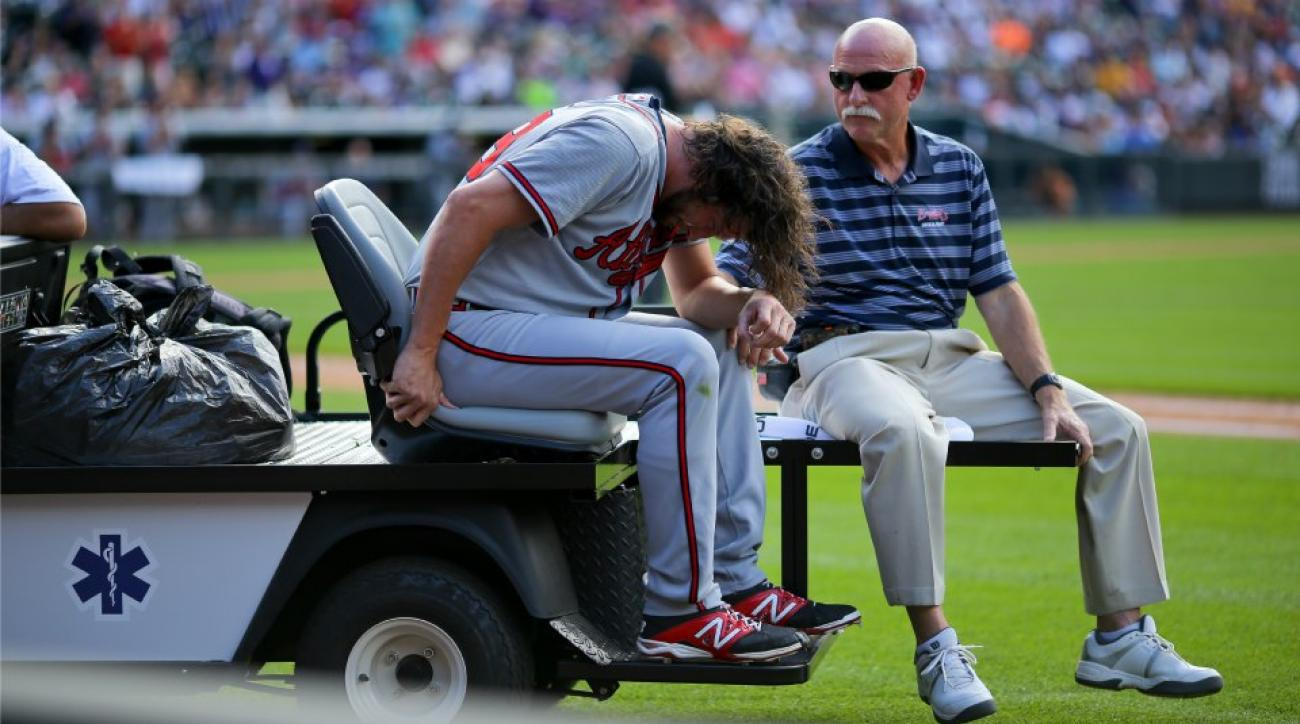 Braves' Jason Grilli out for season with Ruptured left achilles