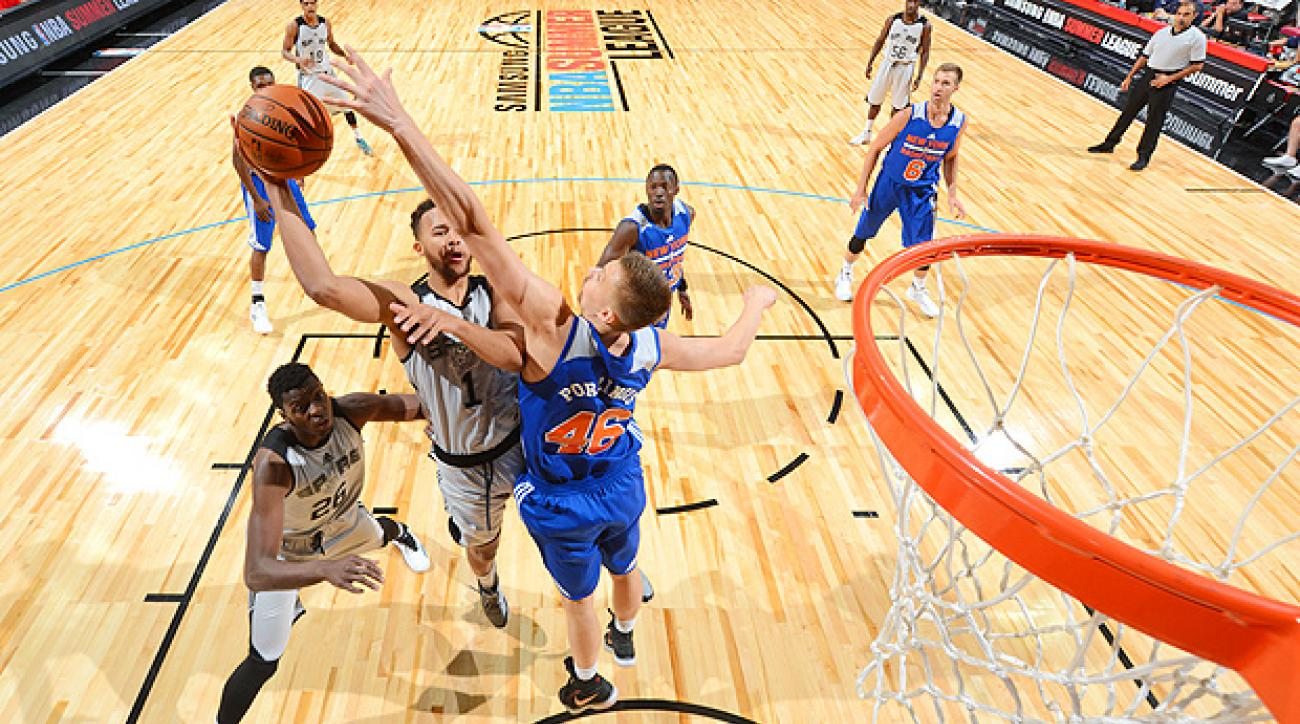 Kristaps Porzingis had a solid Summer League debut for the Knicks.