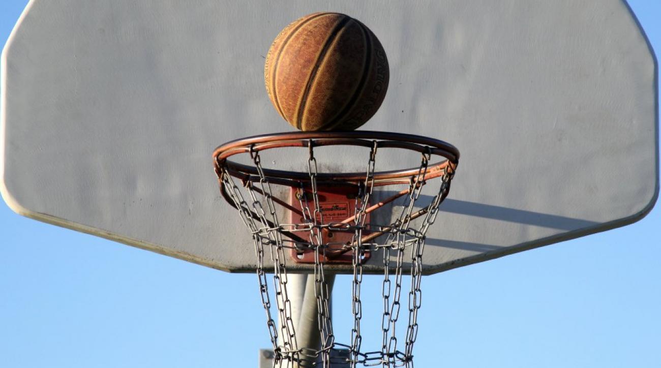 Basketball long distance trick shot crazy celebration