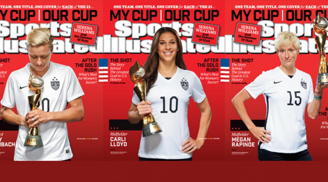 3d75bdcf4 Sports Illustrated cover  USWNT featured on 25 different covers