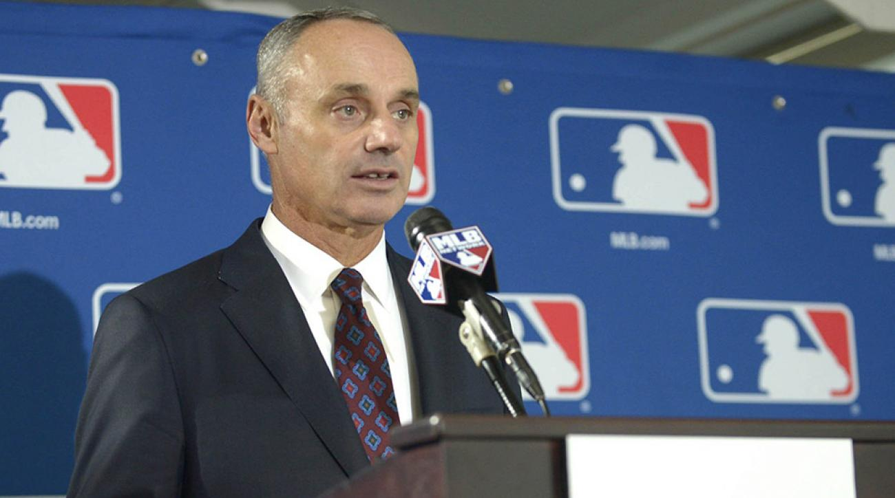 rob manfred town hall expansion schedule length pace of play