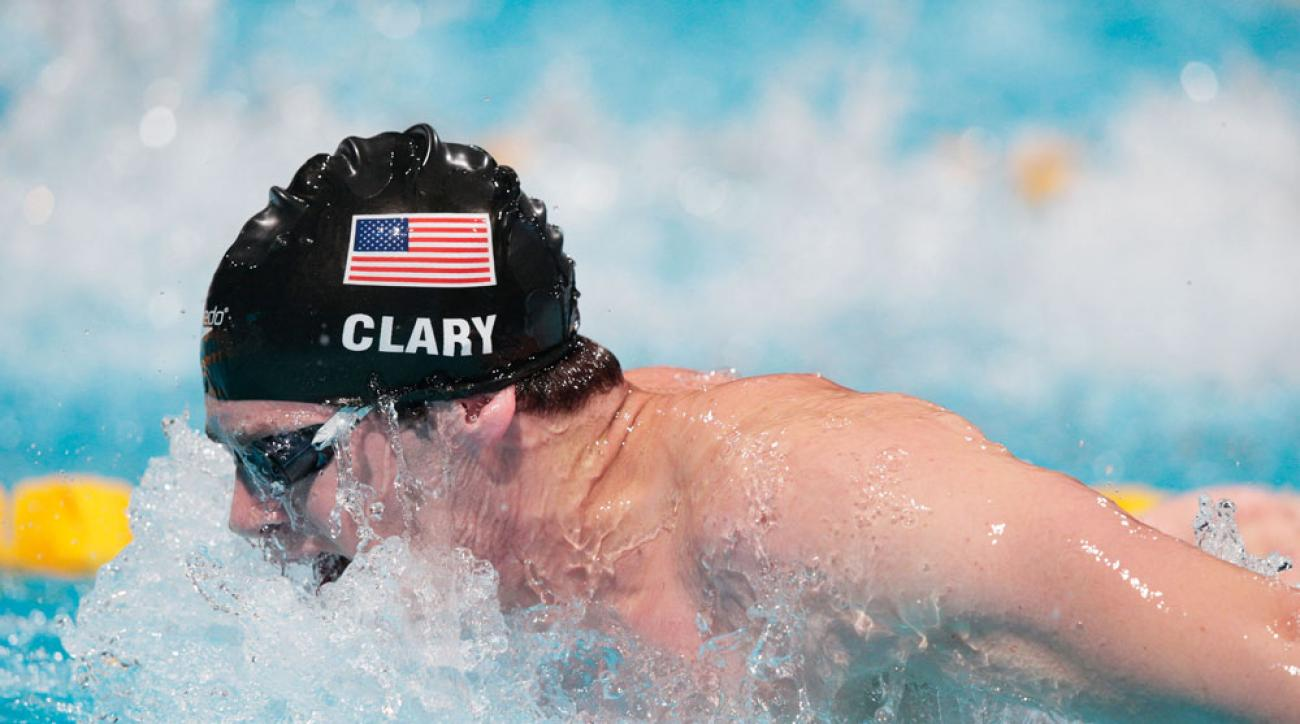 Former University of Michigan swimmer Tyler Clary at the FINA World Championships in Barcelona, Spain, on Aug. 4, 2013.