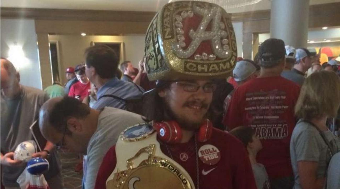 SEC Media Days crazy fans Alabama Ring Hat Guy