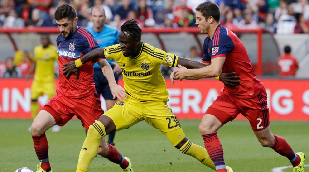 Kei Kamara scored his 13th goal in the Columbus Crew's win over the Chicago Fire