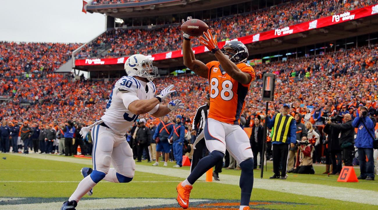 Denver Broncos Demaryius Thomas receiving record NFL