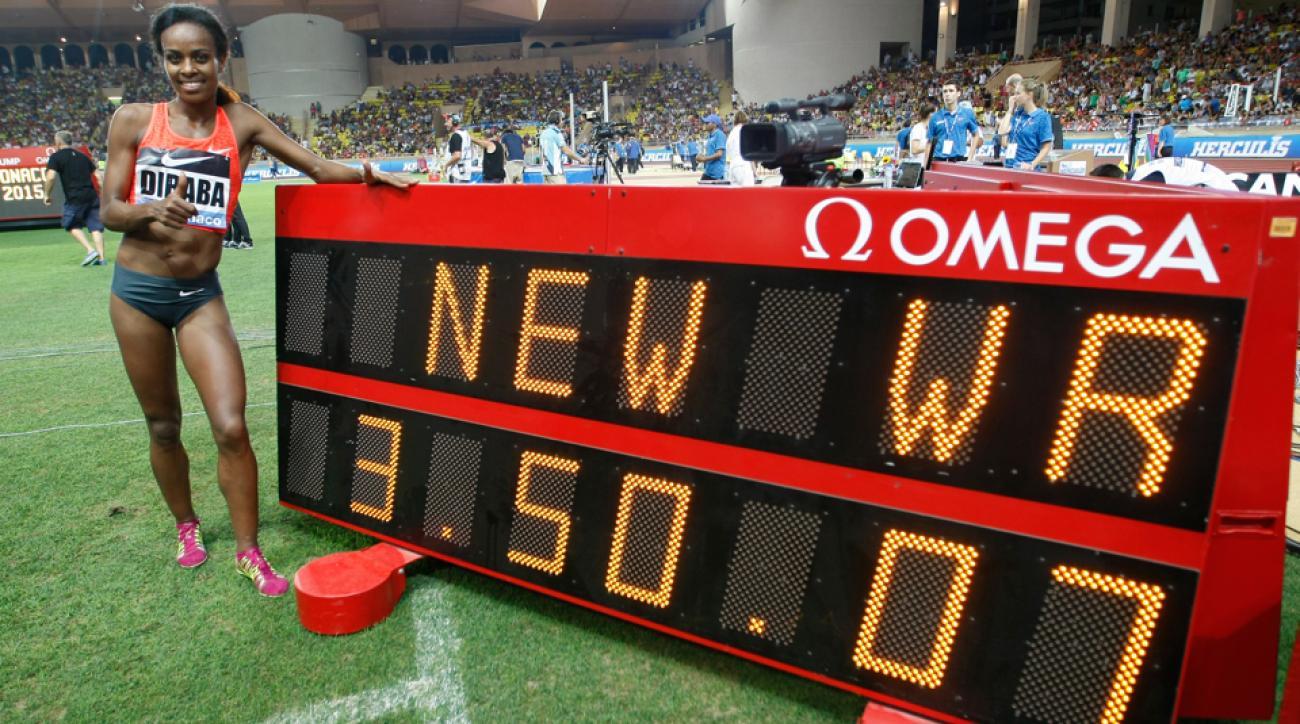 genzebe dibaba new 1500m world record monaco 2015