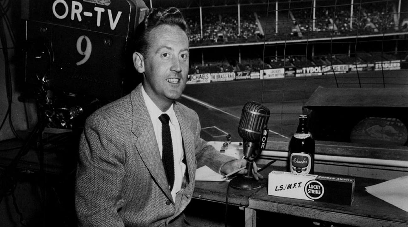 Vin Scully first took the microphone at Ebbets Field 65 years ago and has been broadcasting Dodgers games ever since.