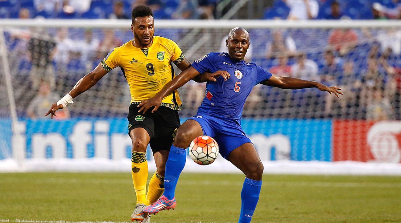 Giles Barnes scored the game-winning goal in Jamaica's 1–0 victory over Haiti.