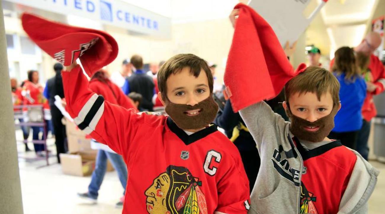 Blackhawks young fans ask team questions at fan fest