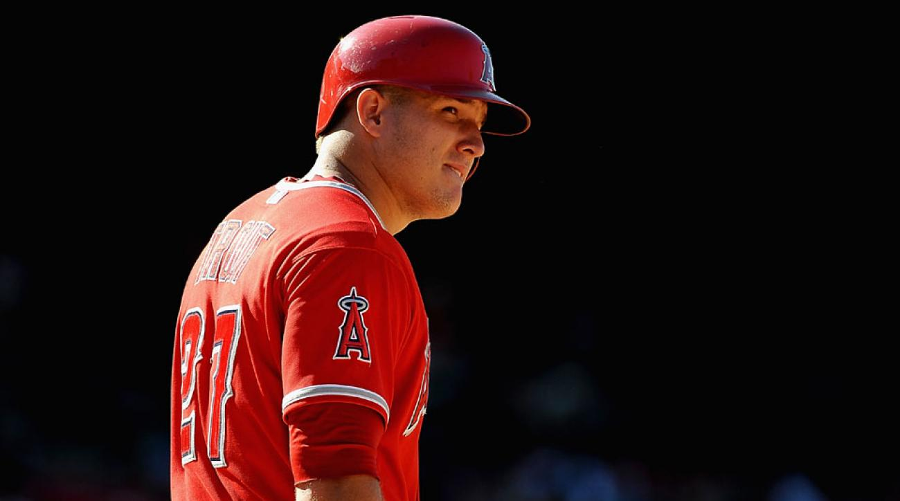 mike trout life size bobblehead