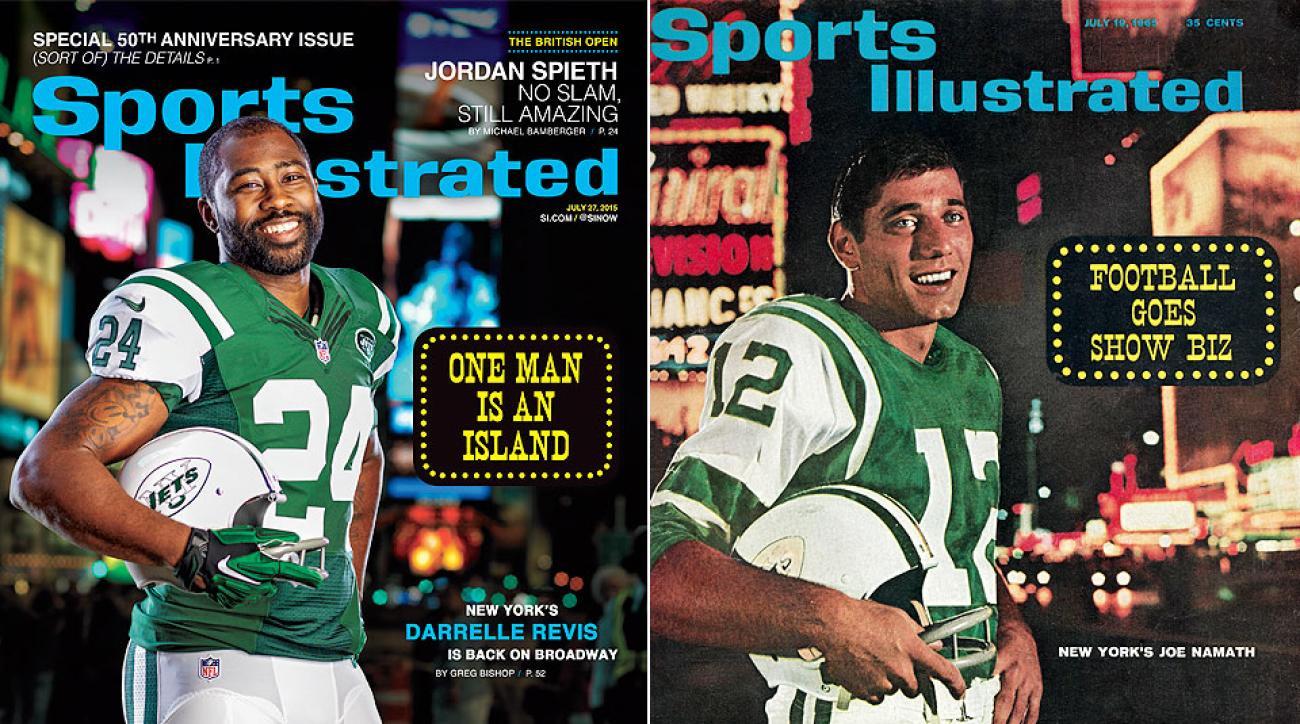 Sports Illustrated cover Darrelle Revis Joe Namath