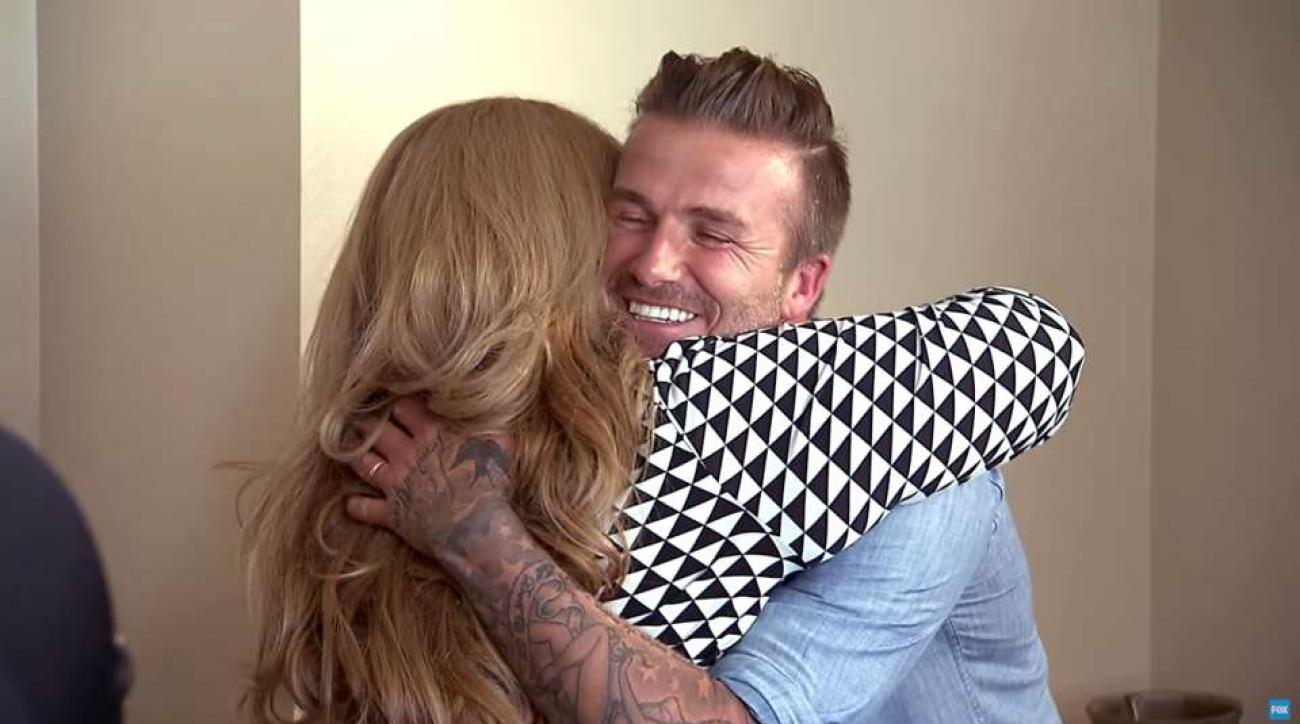David Beckham gives family $100,000 on Knock Knock Live