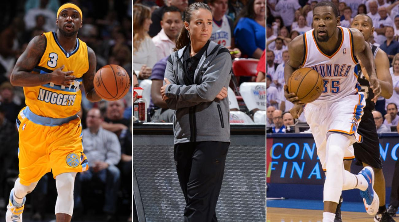 Ty Lawson, Becky Hammon, Kevin Durant