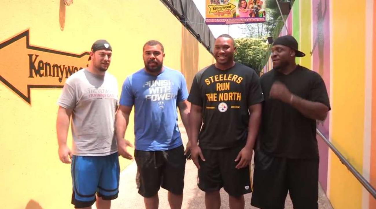 Steelers defensive line heads to amusement park before camp