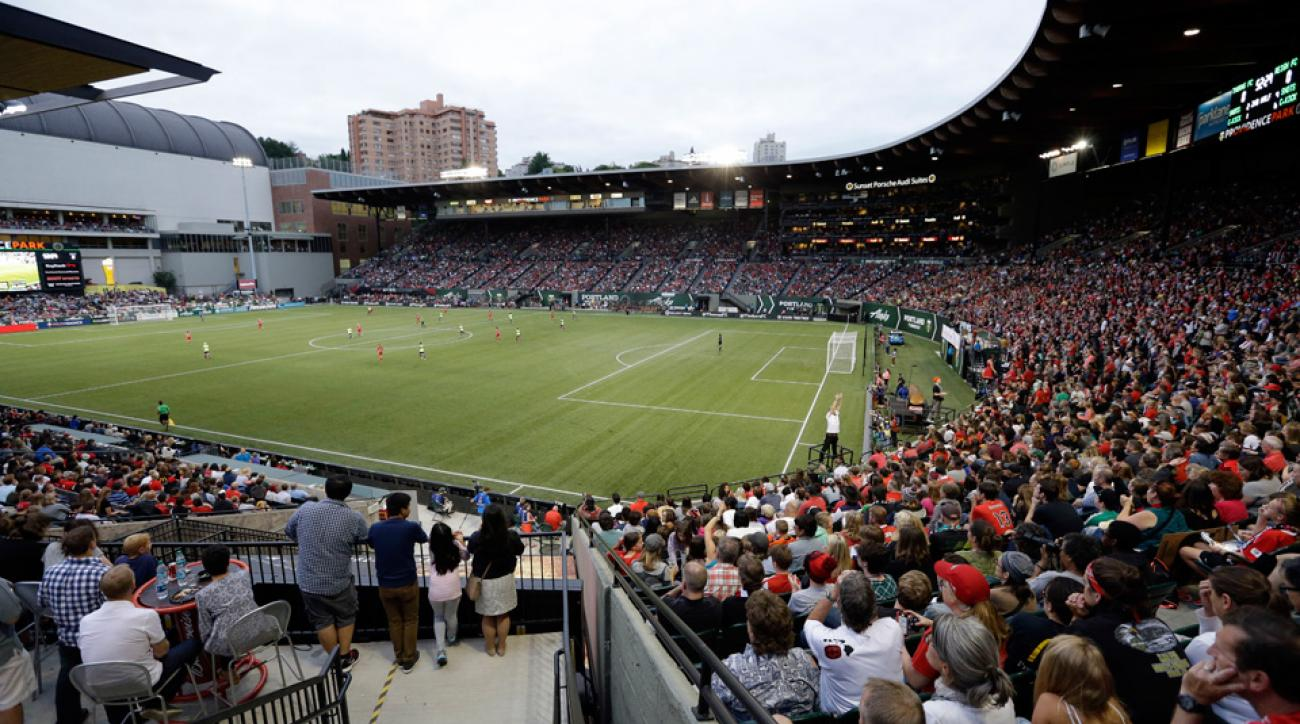The Portland Thorns and Seattle Reign played in front of a record NWSL crowd at Providence Park