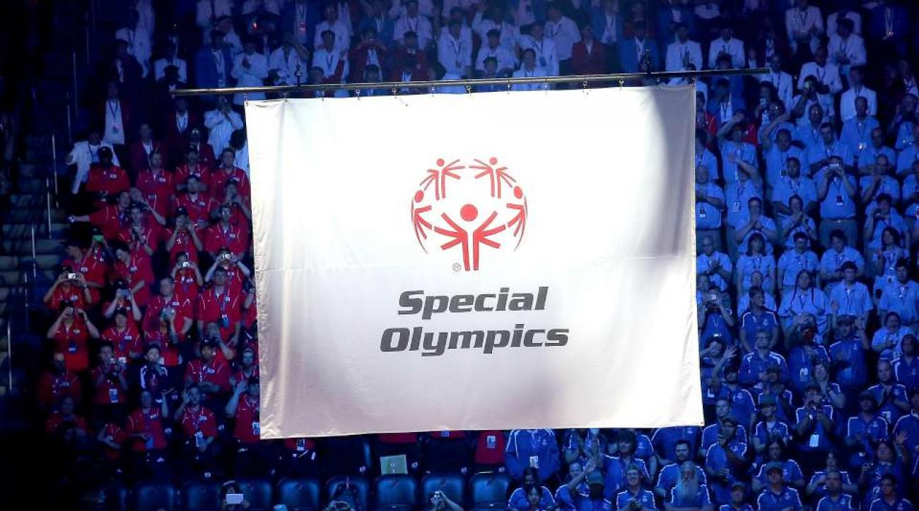 Special Olympic athletes sleep on gym floor