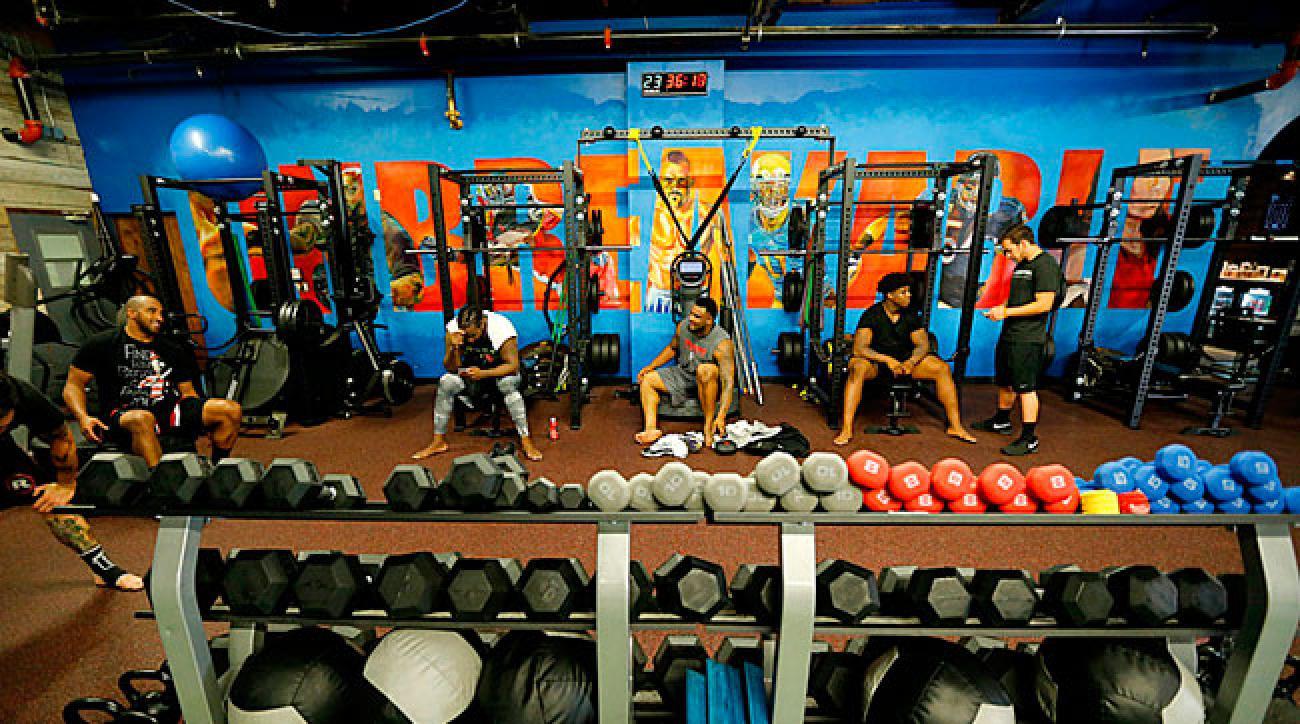 Step inside Jay Glazer's MMA gym for NFL players.