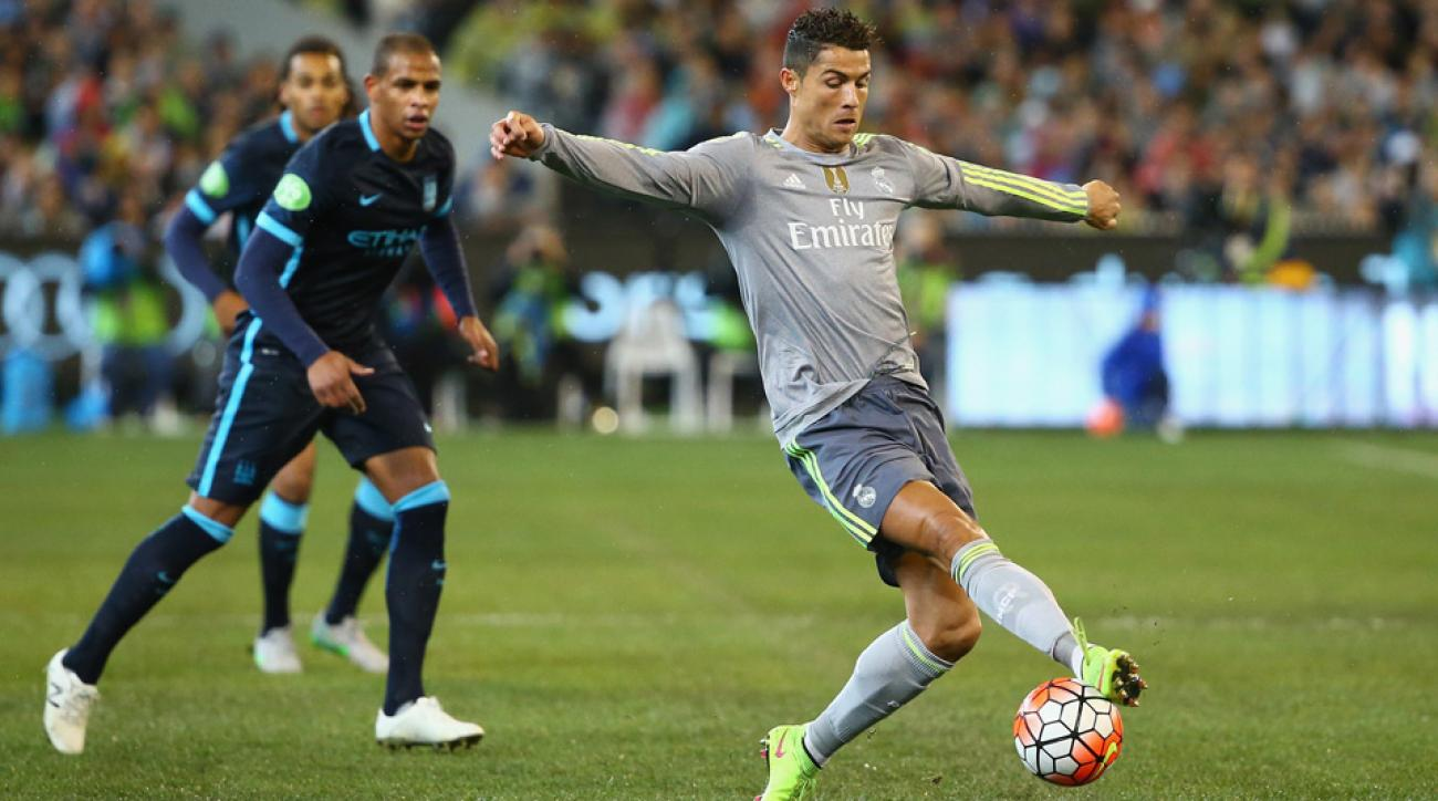 Cristiano Ronaldo scored in Real Madrid's friendly win over Manchester City