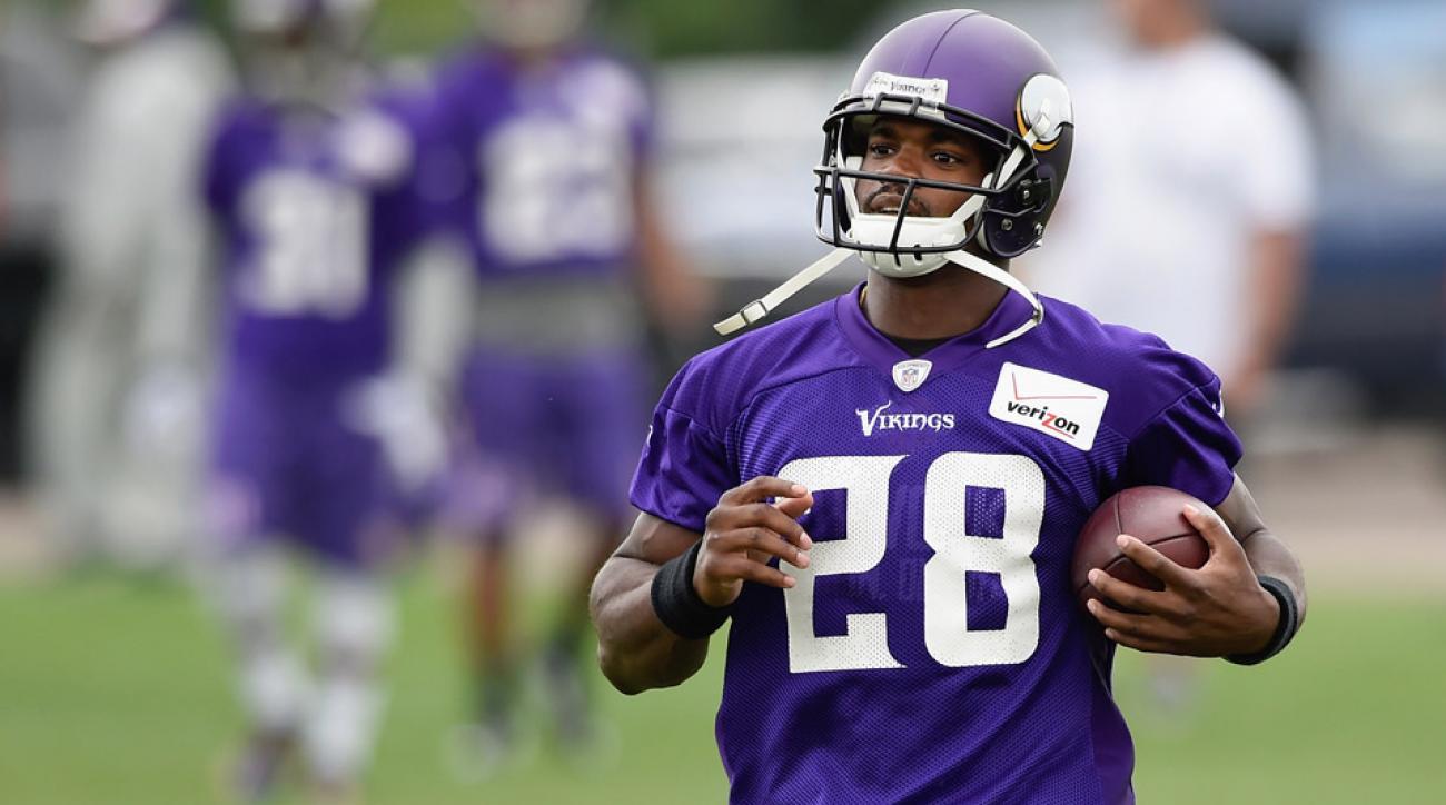 Minnesota Vikings adrian peterson training camp return